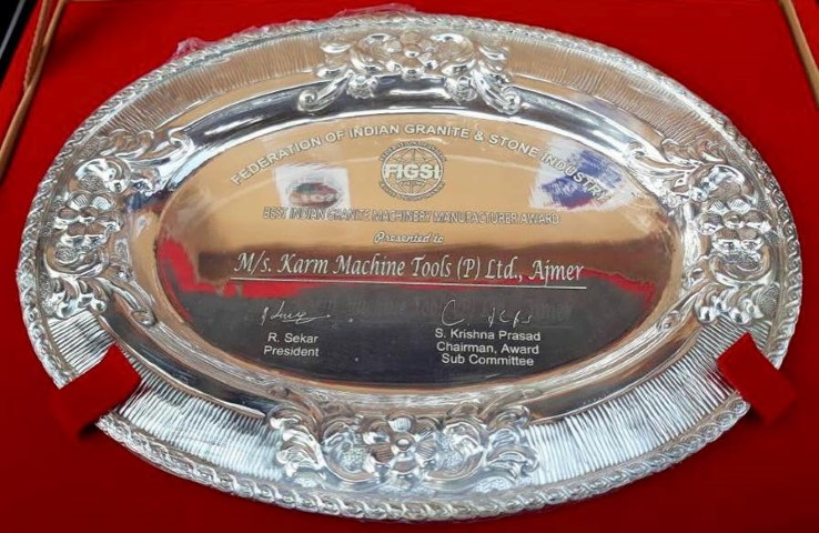 Best Stone Processing Machine Manufacturer in india award